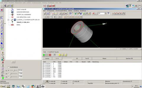 Abbildung: Qualitätsprüfung 3D-Koordinatensoftware WinWerth